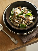 Pearl barley risotto with mixed mushrooms
