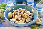 Potato and mushroom salad