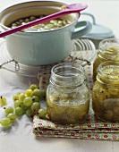 Home-made gooseberry jam