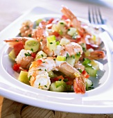 Creole prawn salad
