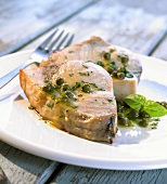 Swordfish with caper and lime sauce