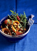 Spicy pepper salad with chilli and rocket
