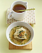 Soup with Maultaschen (filled pasta squares)