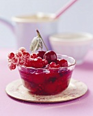 Red fruit compote (made with fresh berries)
