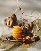 Still life with dried fruit