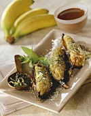Baked bananas with coconut