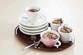 Chilli chocolate mousse in cups