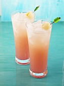 Lychee Spritzer (made with tequila, lychee liqueur, grapefruit juice)