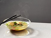 Asian prawn soup with coriander