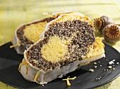 Iced lemon poppy seed cake
