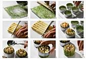 Making individual asparagus jellies