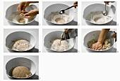 Making bread dough
