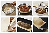 Making minced meat pie
