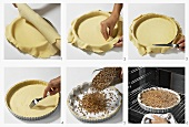 Baking shortcrust pastry blind