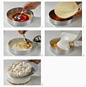 Making a redcurrant meringue cake