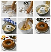 Making rum baba