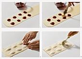 Süsse Ravioli mit Kirschfüllung zubereiten