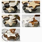 Making a star-shaped cake