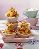 Nut brittle muffins