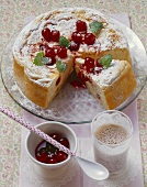 Amarena cherry cake made with rice pudding and quark