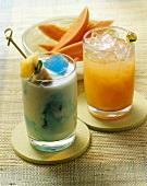 Tijuana Banana Boat (tequila drink), Pa & Ma (vodka drink)