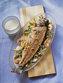 Salmon trout in Riesling sauce