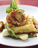 Rolled veal roast with pancetta and celery cannelloni