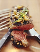 Rack of lamb with nut brittle crust