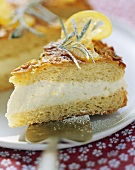 Bee sting cake with rosemary and candied lemon