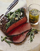 Roast beef with lukewarm spiced oil