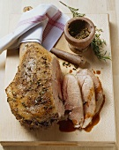 Roast leg of lamb (medium) with rosemary and orange