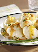 Cauliflower with buttered breadcrumbs