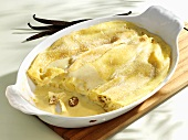 Topfenpalatschinken (Baked pancakes filled with curd cheese)