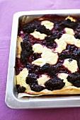 Cherry Kleckselkuchen ('Blob cake')