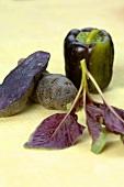 Purple potato and pepper