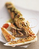 Norway lobster with herb and bread crust