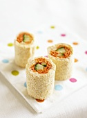 Three maki sandwich rolls
