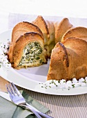 Ricotta and spinach gugelhupf