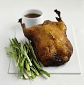 Roast duck with spring onions and soy sauce (China)
