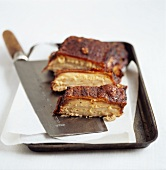 Grilled pork ribs with cleaver