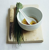 Asian chilli dip with chives