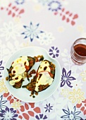 Aubergine with soya stuffing and pecorino crust
