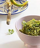 Arroz verde (Green rice, Mexico)