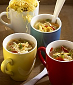 Cabbage soup in cups