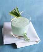 Cucumber and wasabi drink