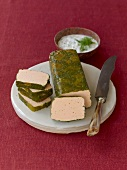 Salmon terrine with dill sauce