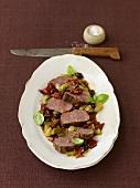 Chateaubriand steak with pomodori secchi