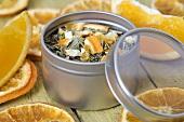 Dried orange tea