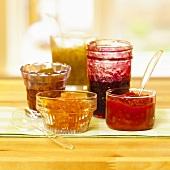 Assorted jams and chutneys