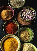 Assorted spices for Moroccan cuisine
